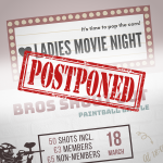 Events postponed!